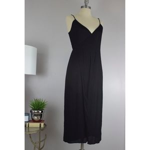 Reformation Malia Black Wrap Dress